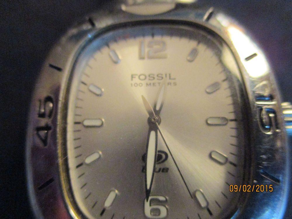 MEN'S FOSSIL BLUE QUARTZ WATCH, 100 METERS WR,ALLSS,AM-3448 #Fossil #Casual