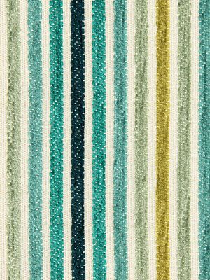 Turquoise Upholstery Fabric Striped Fabric By Popdecorfabrics