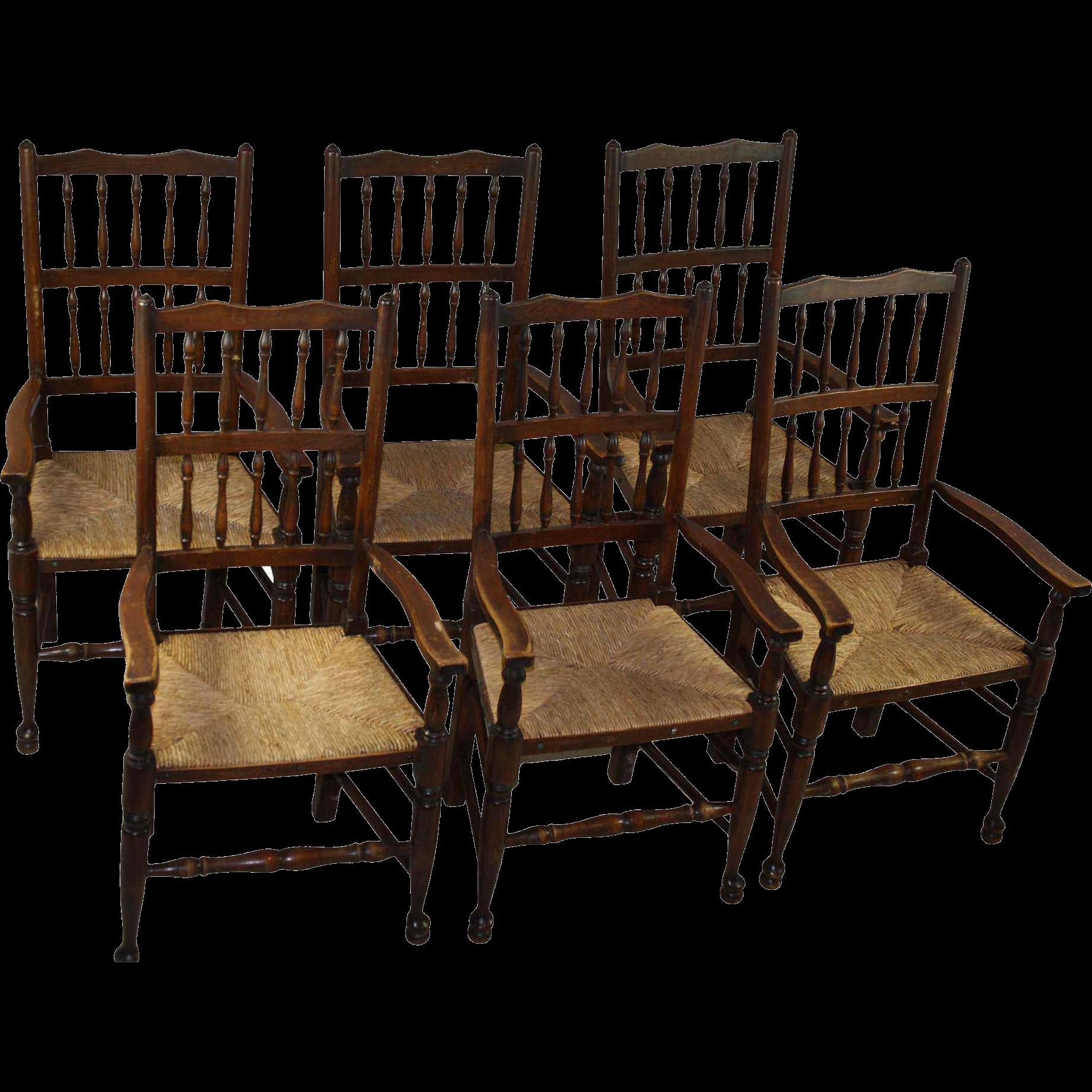 Antique Farm Chairs Set Of 6 Shop Wwwrubylanecom At Rubylanecom