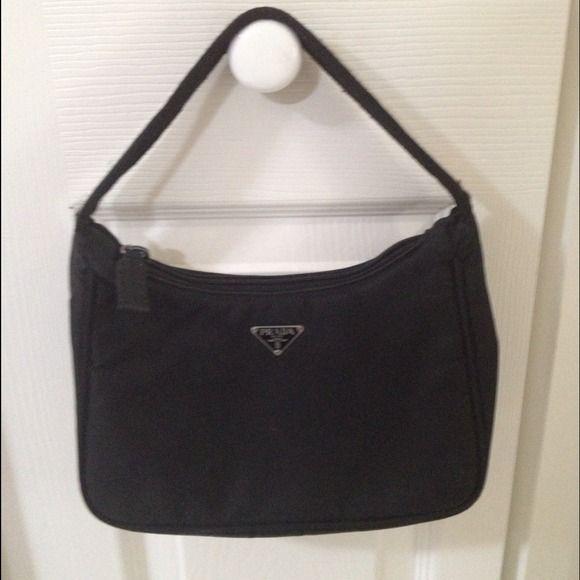 ... ireland prada nylon purse authentic prada black nylon small bag. a  little worn on the 1fe1b9dfac444