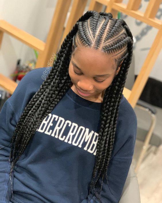 20 New Ghana Weaving Hairstyles For Ladies In 2020 Cornrow Hairstyles Braided Hairstyles Natural Hair Styles