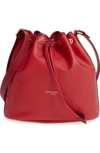 LONGCHAMP  Small 2.0  Leather Bucket Bag.  longchamp  bags  shoulder bags   leather  bucket  lining   483813601e743