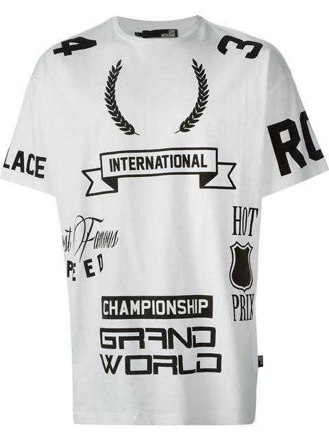 c188b369 Love Moschino Printed T-shirt - Boutique Mantovani - Farfetch.com ...