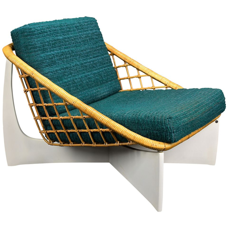 Pastoe Wicker Lounge Chair Holland 1960 S Unattributed But Cees Braakman Most Likely Mobilier De Salon Deco Chaise