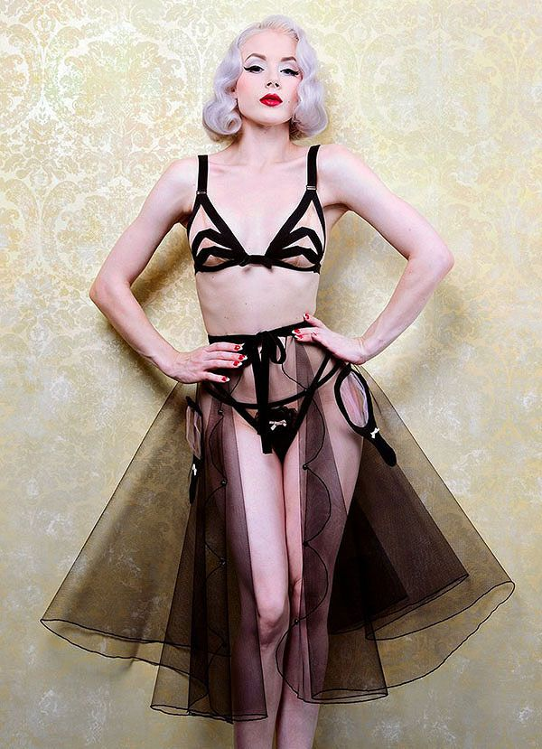 27e76614e07 miss Mosh in Dottie Delights petticoat and underpinnings on lingerie Briefs  http   lingeriebriefs