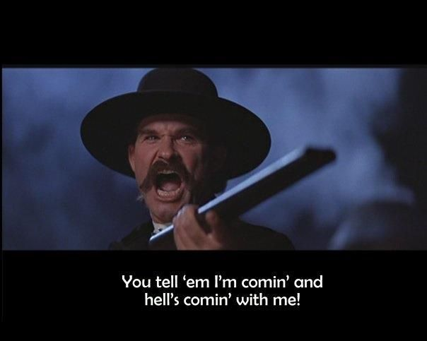 Tombstone Movie Quotes Best Movie Line on | shootin, sheds n such | Movie Quotes, Movies  Tombstone Movie Quotes