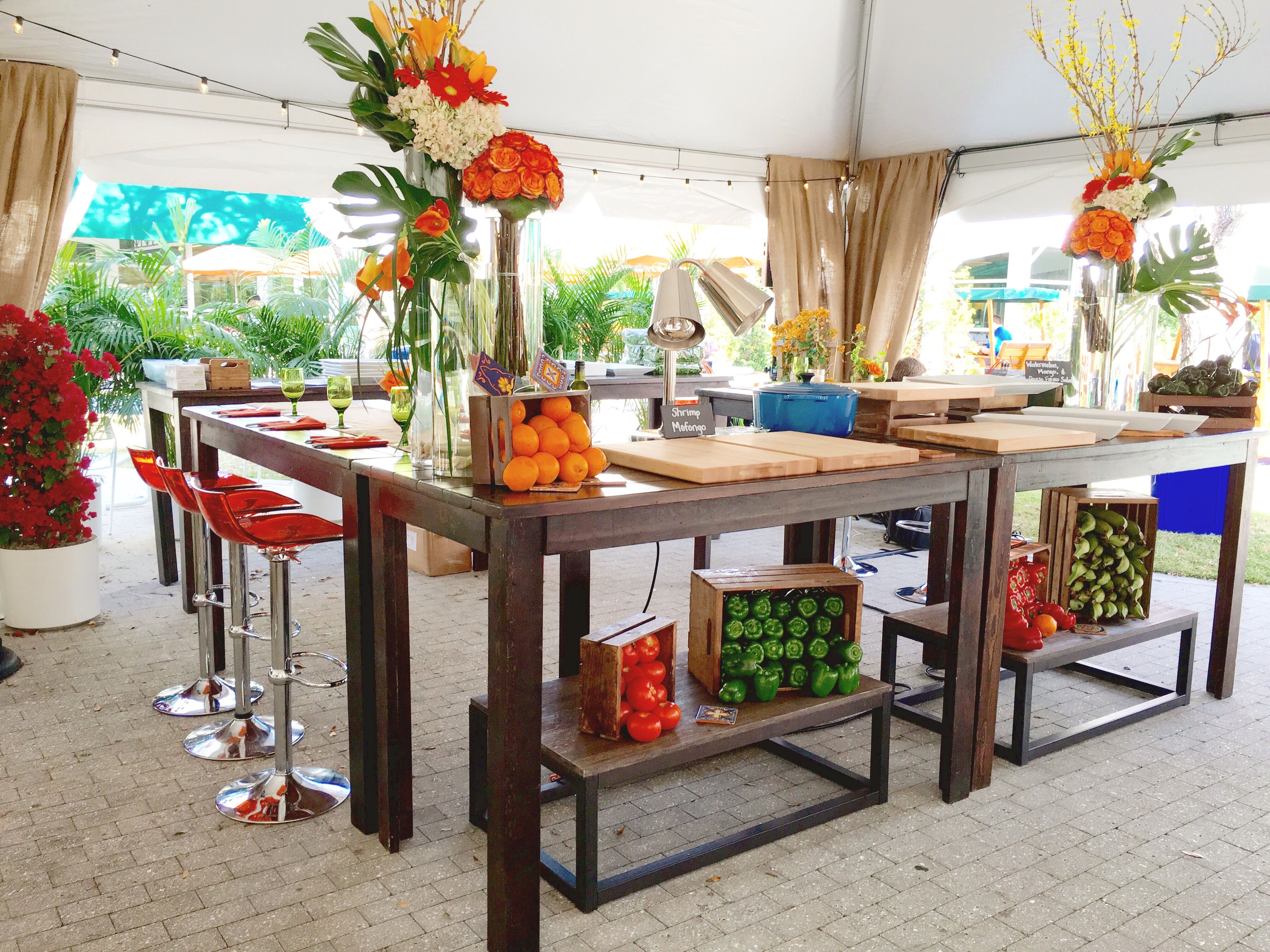 This is one HOT Chefs Table! Bar table, Rental furniture