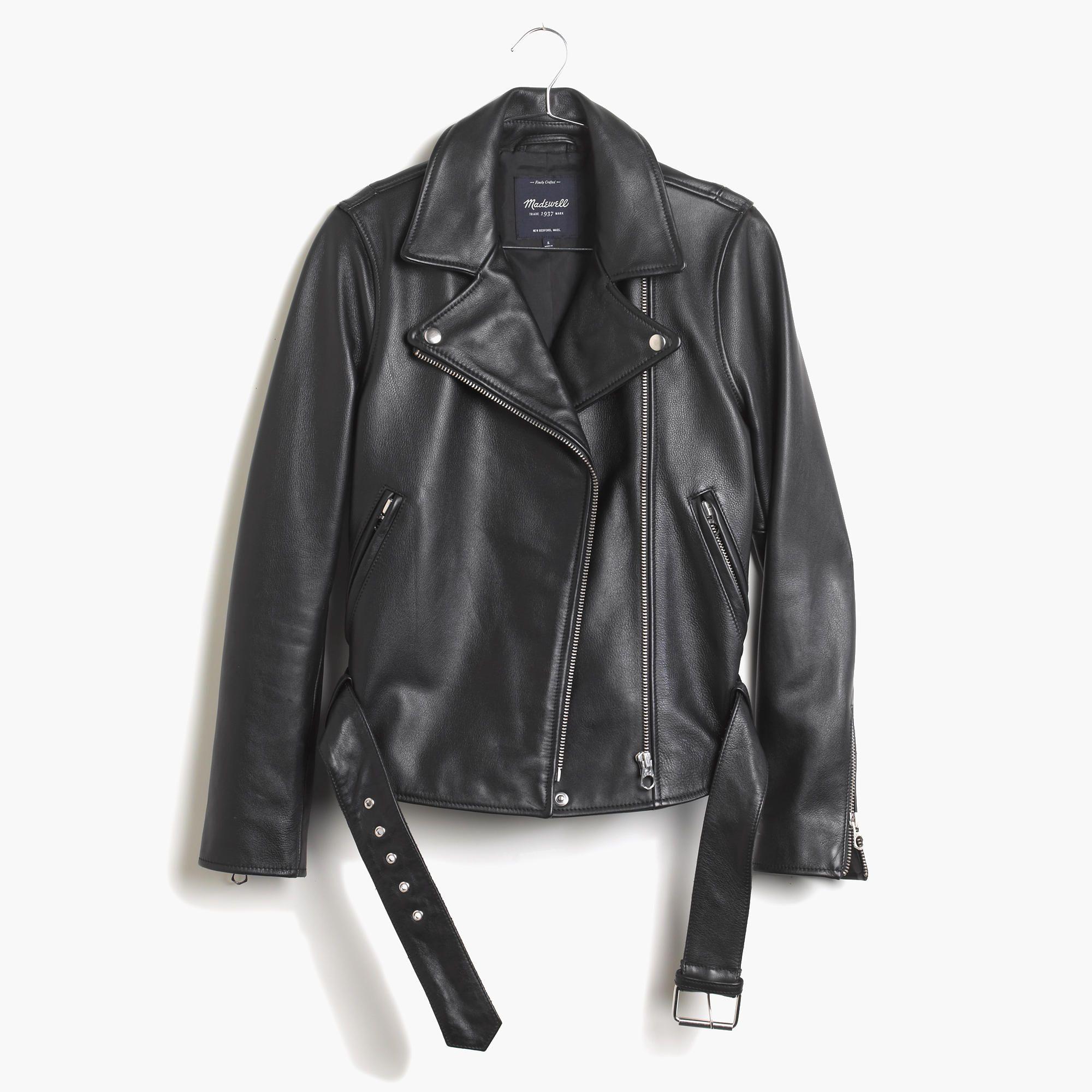 Madewell 530 Real Leather Jacket Leather Jacket Black Motorcycle Jacket [ 2000 x 2000 Pixel ]