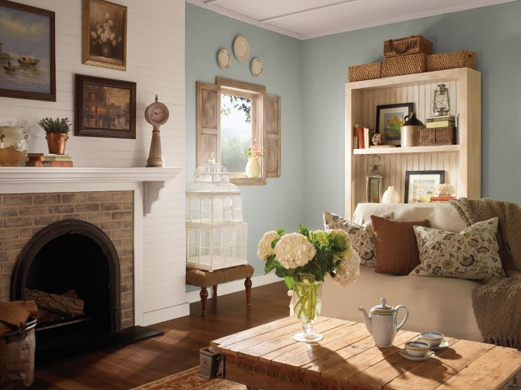 Create That Farmhouse Feel Colorfully Behr Paint Colors For Living Room Country House Interior Living Room Paint Country colors paint living room