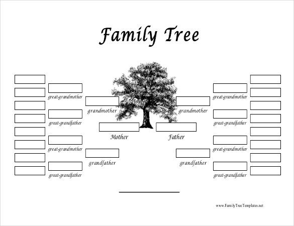 Family tree template 31 free printable word excel pdf for Family history charts templates