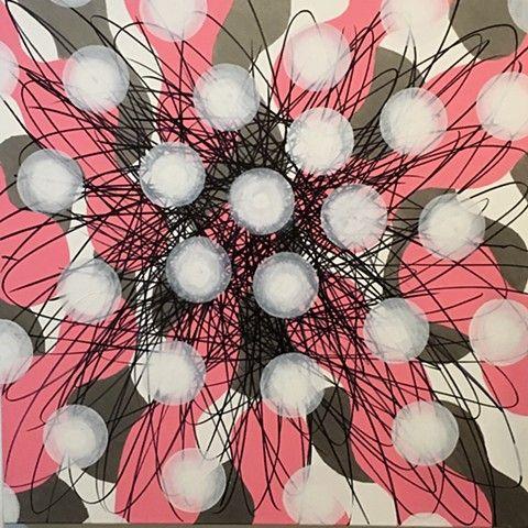 JON COFFELT - Pink and Silver Metallic Burst II