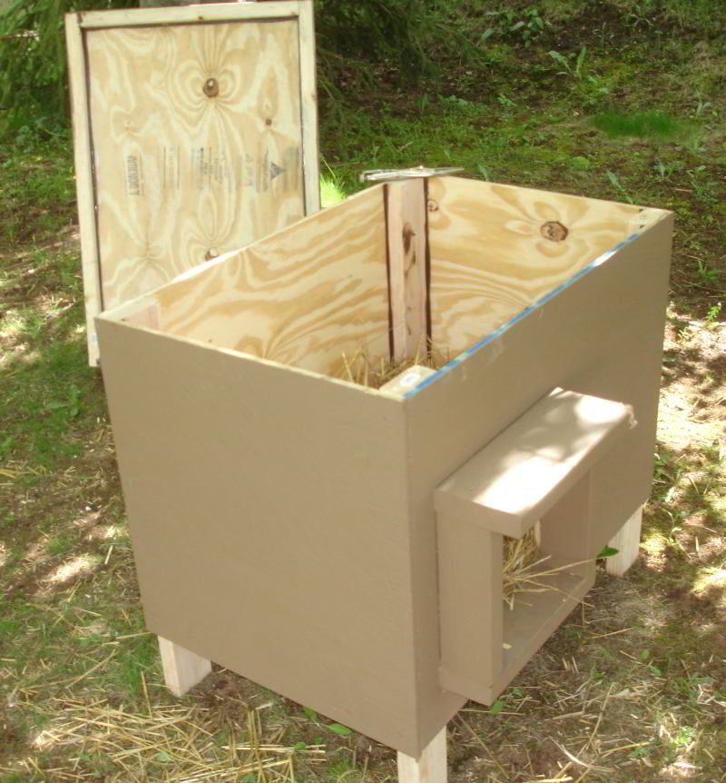 Plywood dog house plans design how to build a dog house for Barrel dog house designs