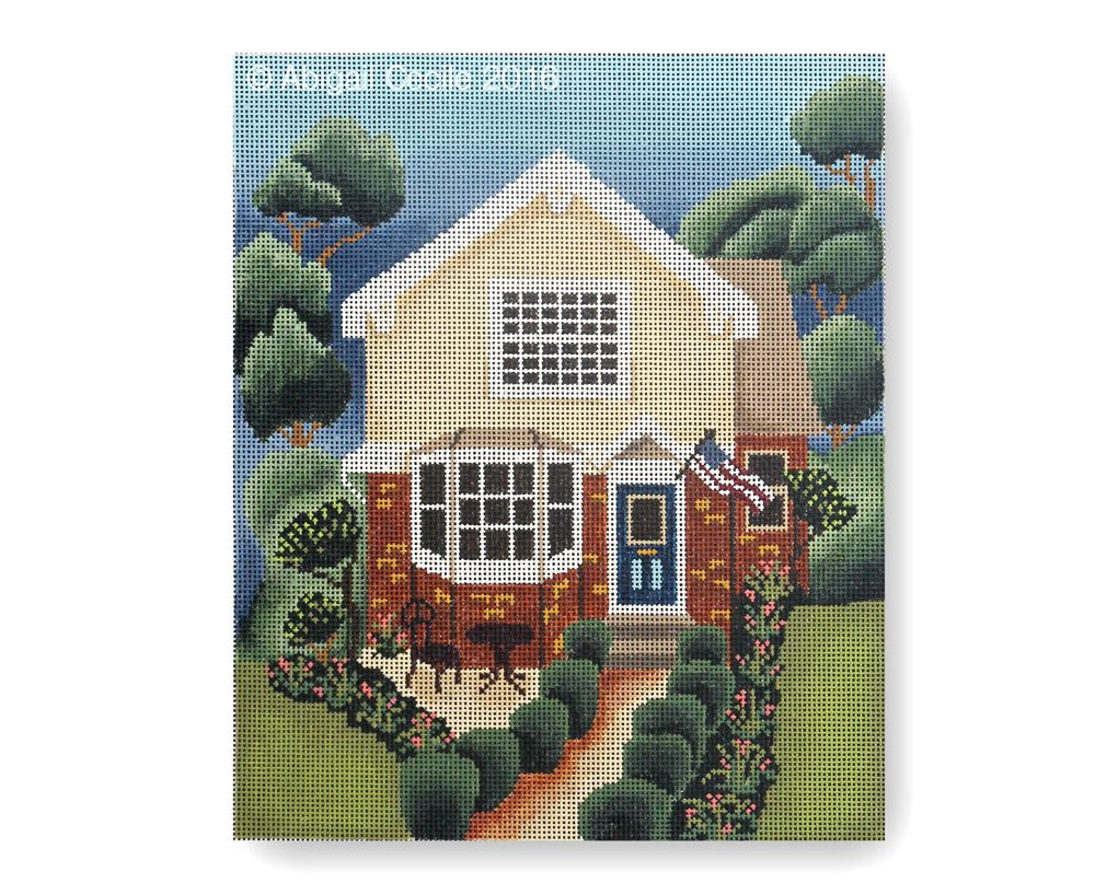 Picket Fence House - Abigail Cecile Needlepoint