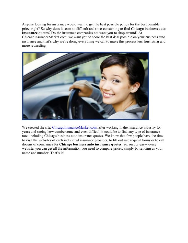 Chicago auto insurance quotes Chicago Insurance market
