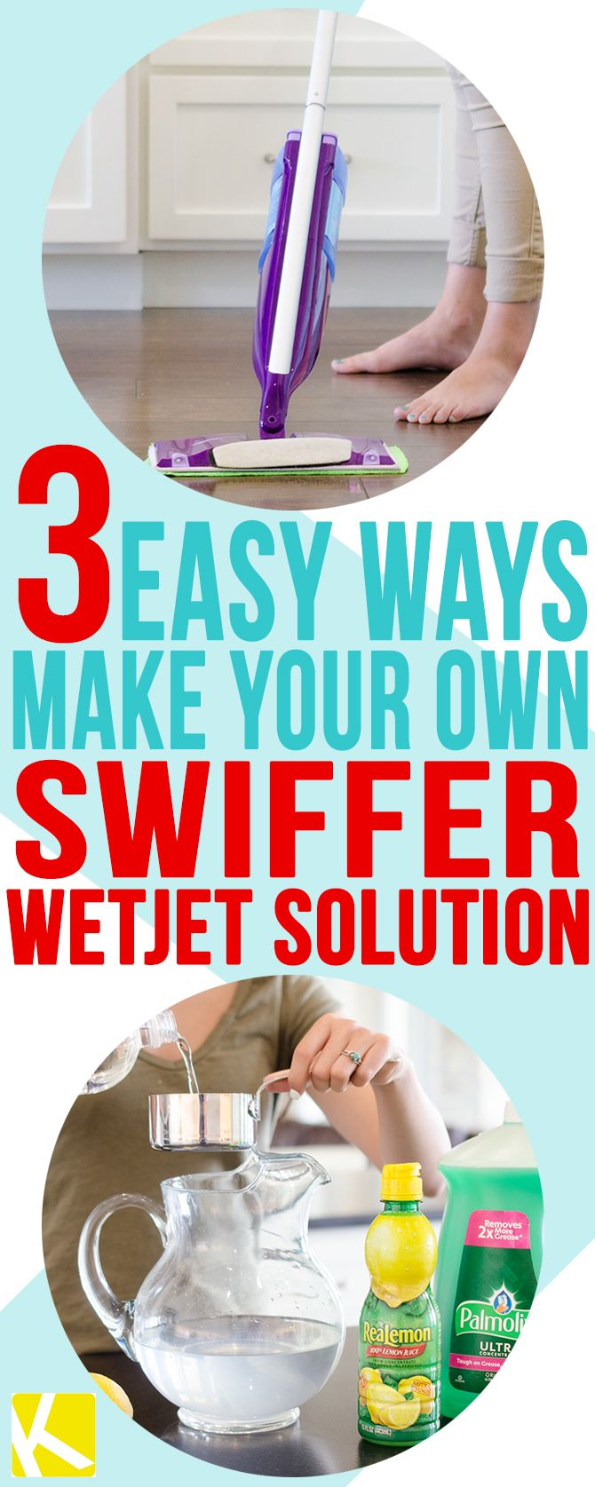 Easy Ways Make Your Own Swiffer Wetjet Solution Vinegar Cleaning House