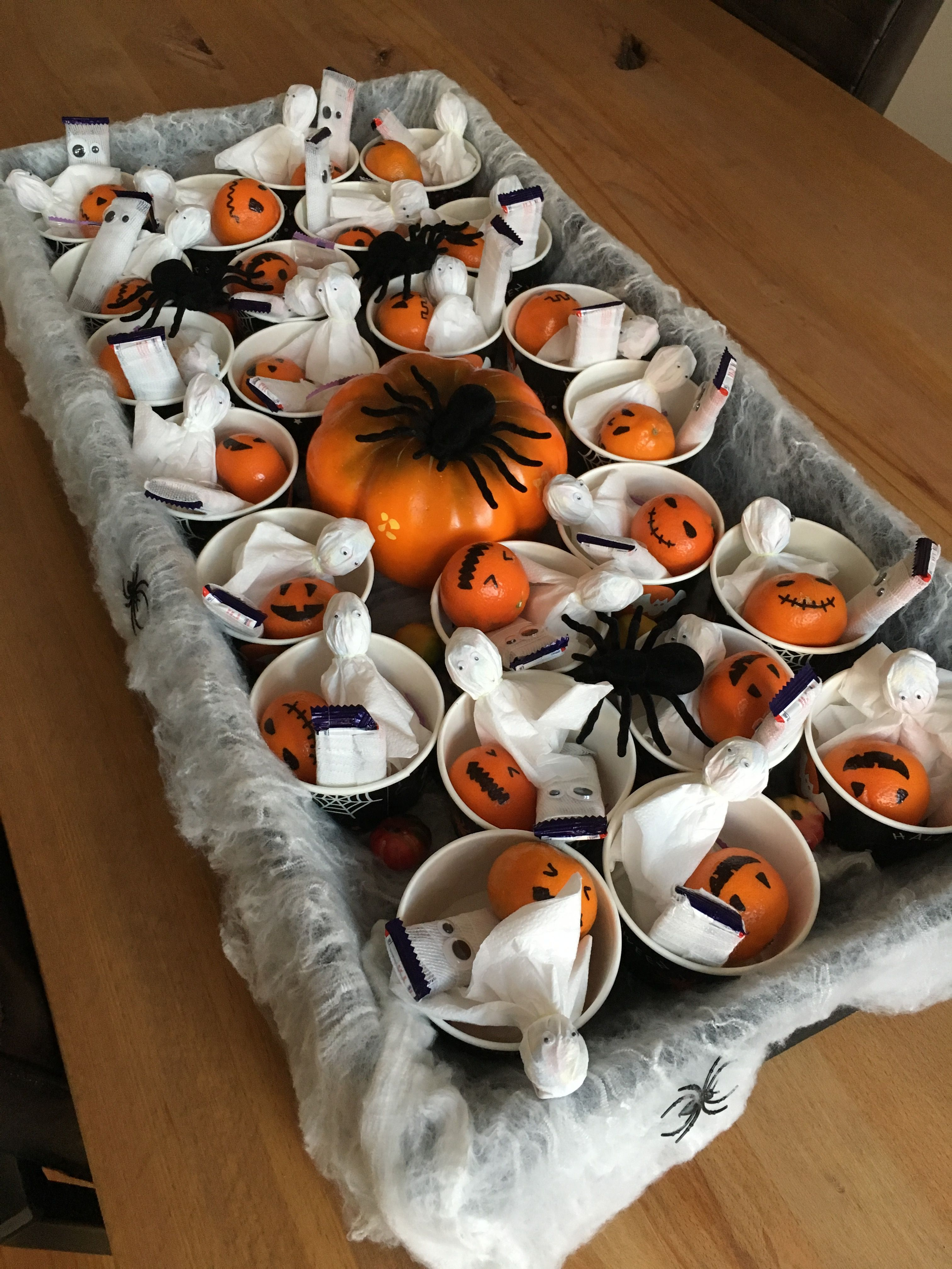 Halloween Traktatie.Halloween Traktatie Lolly Spookjes Mummy Repen Pompoen Mandarijnen Traktaties Halloween Kind Peuterwerkjes