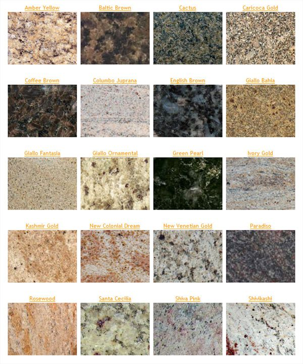 Granite Countertop Colors: The Five Most Popular Granite Countertop Colors