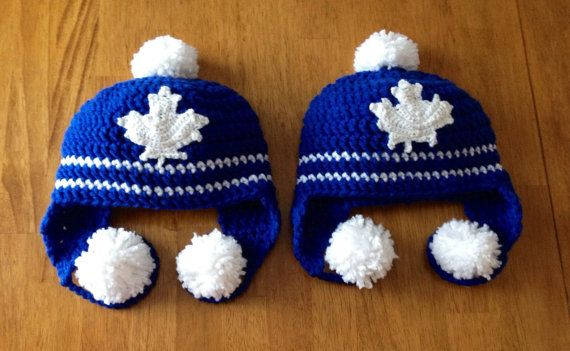 280512af922 Crochet Toronto Maple Leafs Hat by CreationsForSweetPea on Etsy