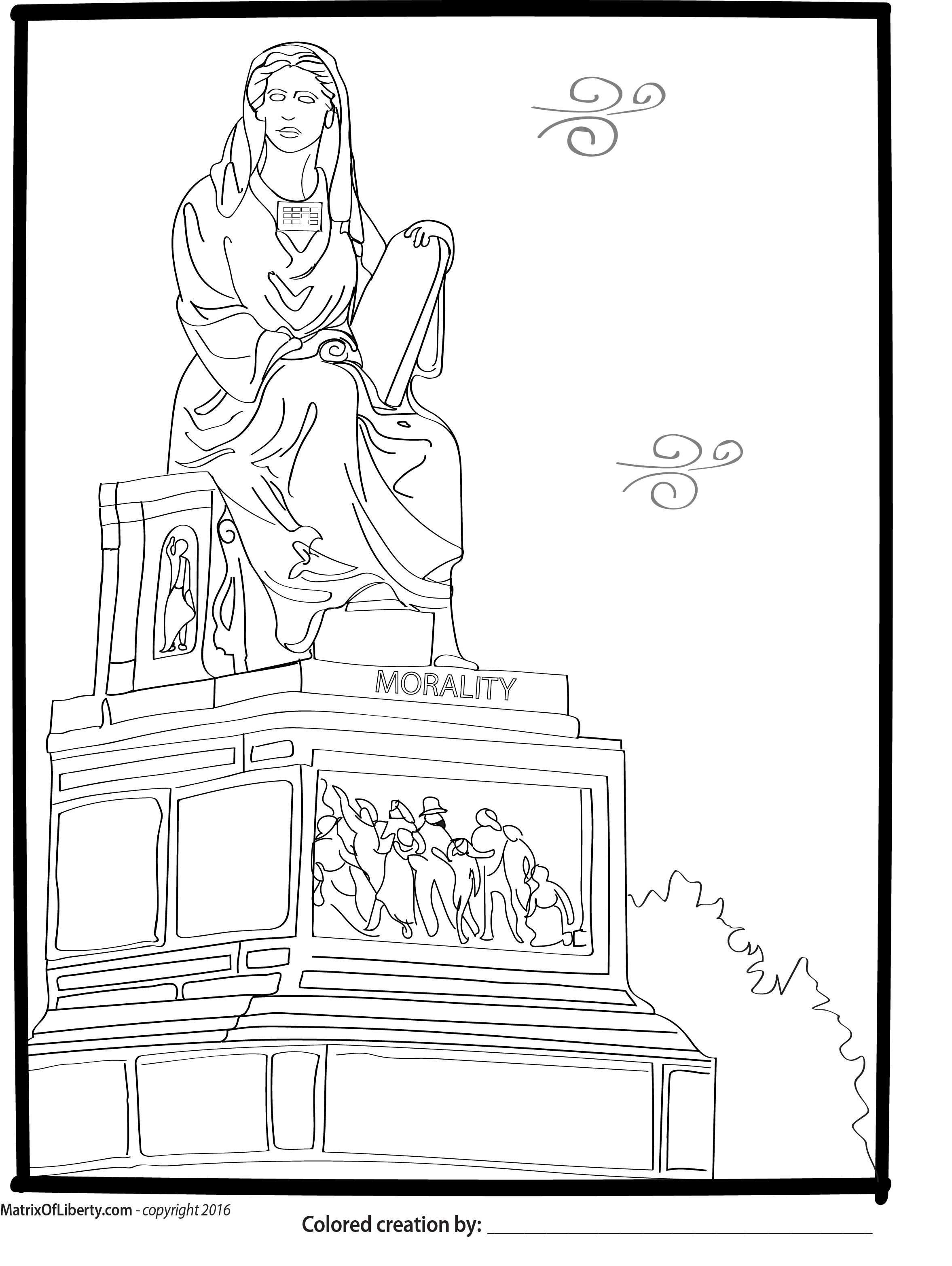 The figure of morality is depicted by a woman wearing the sacred Eli the Priest Coloring Page Holy Orders Coloring Page Catholic Coloring Pages