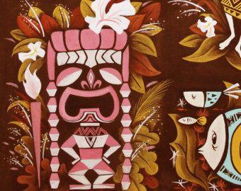 Hawaiian, Tiki,Hula Girl, Wall decor, Polynesian pop, Mid Century ...