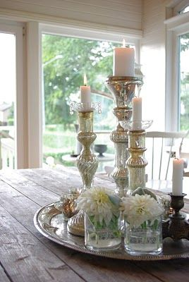 I Just Adore Mercury Glass Candlesticks But They Are So Expensive Here In NZ Cheaper To Buy Silverplated Ones Which Do