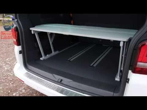 Multiflexboard VW T5 / T6 California Beach und Multivan Bettverlängerung - YouTube