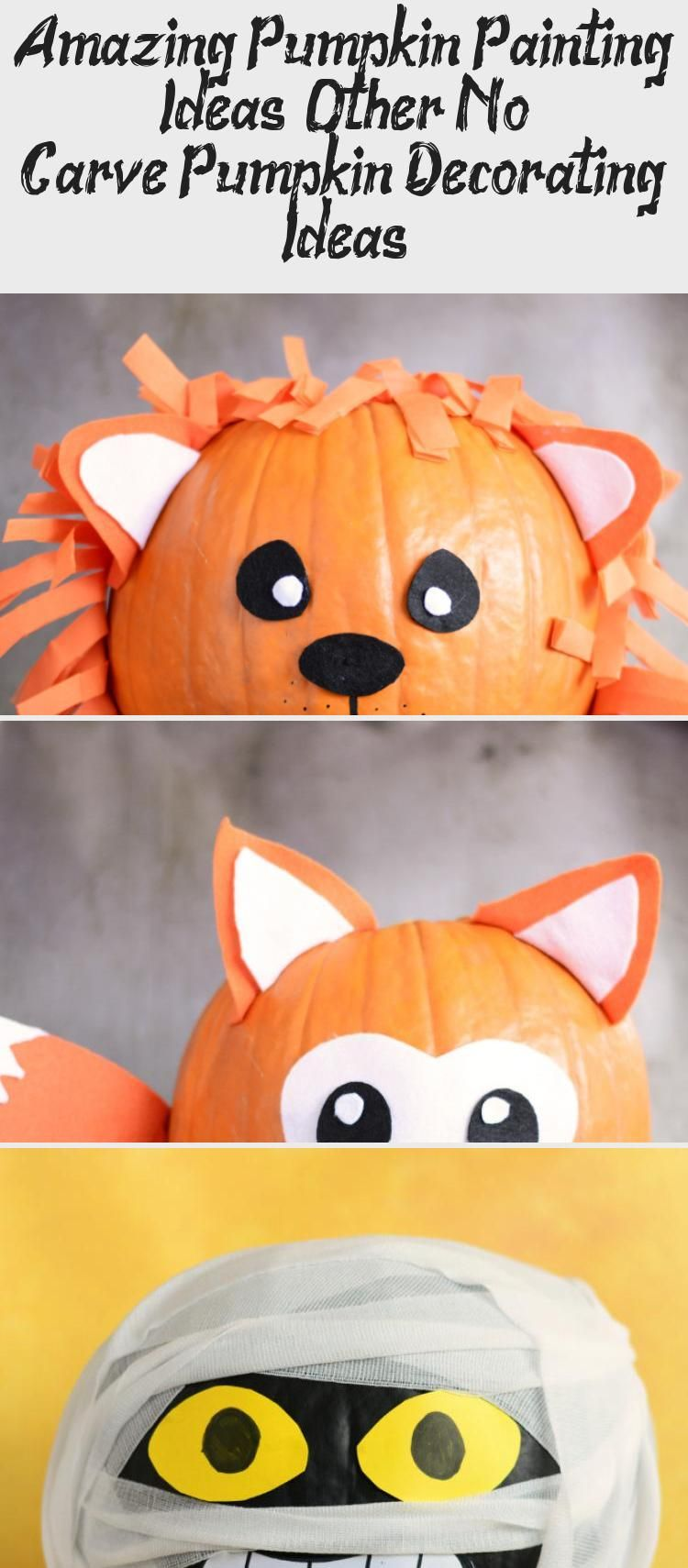 Amazing Pumpkin Painting Ideas & Other No Carve Pumpkin Decorating Ideas #Glasspaintingideas #paintingideasArt #paintingideasSky #paintingideasPencil #Trippypaintingideas #pumpkinpaintingideas