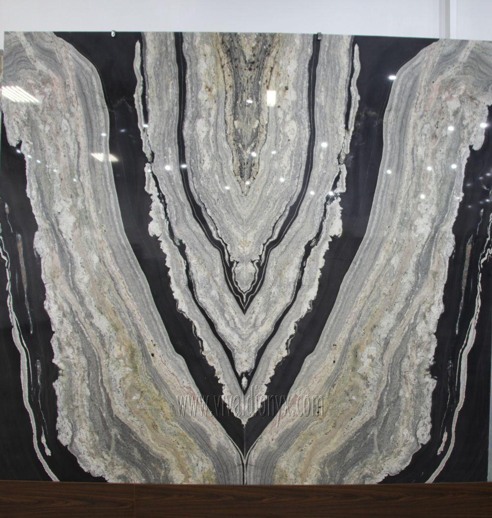 Bookmatched Onyx Vivaldi Lifestyles Granite Stone Countertop Slabs
