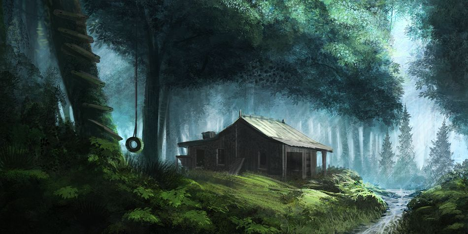 Cabin In The Woods By Ourlak On DeviantArt