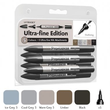 Pack of 3 Letraset Promarker Ultra Fine Nibs