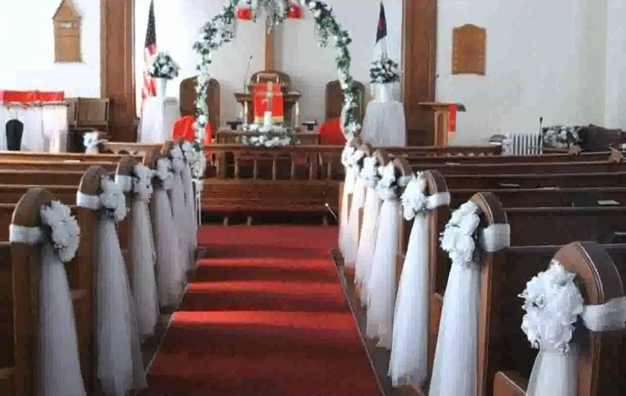 Diy Church Pew Decorations