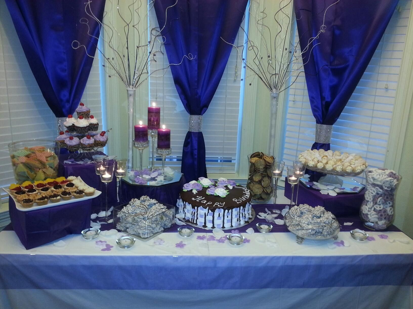 Sweet 16 birthday party | Party food, setup and table ...