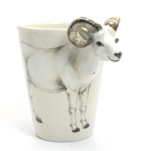 Exceptionnel White Goat Mug Ceramic Cup Handmade Home Decor Animal Lover Gifts