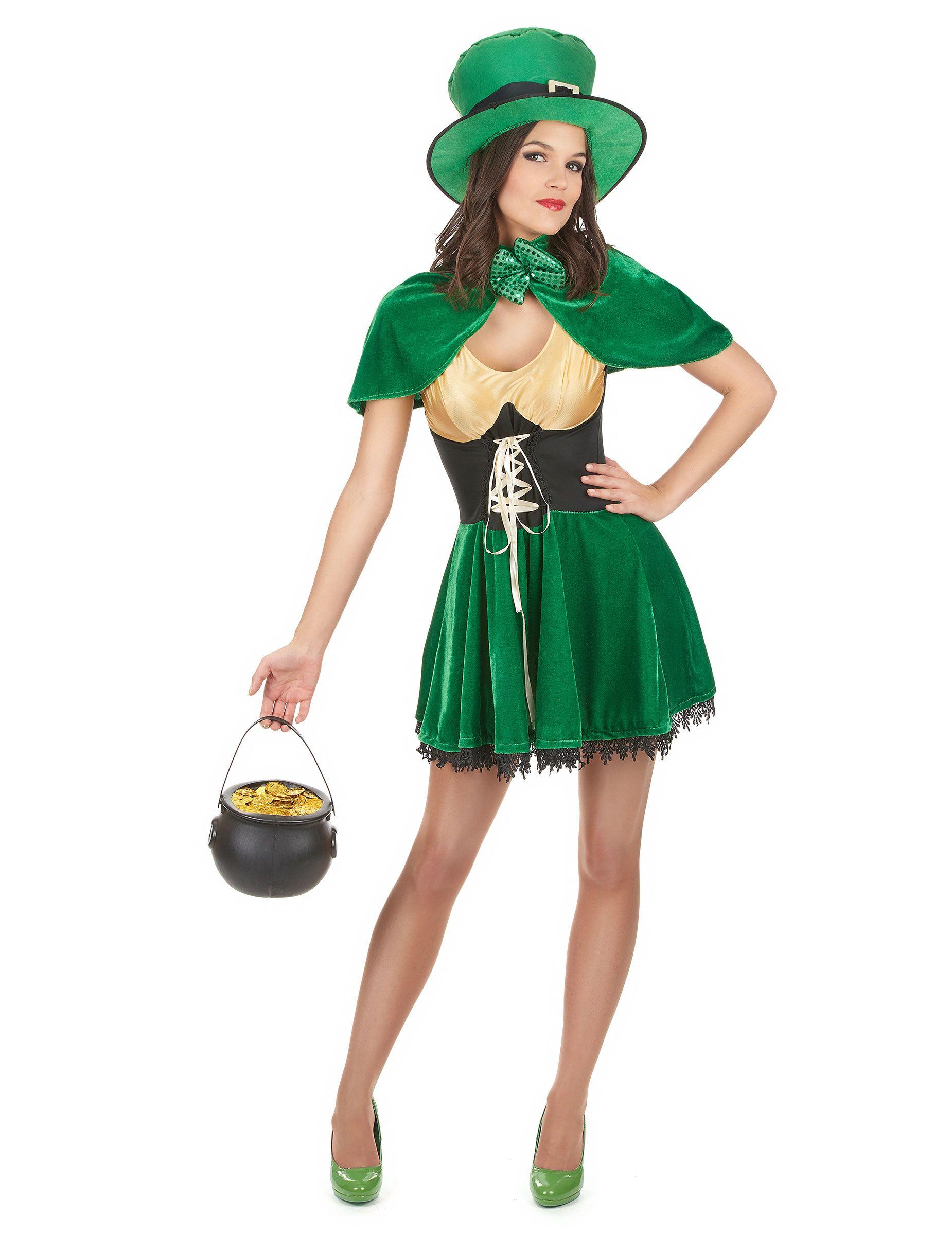 Disfraz duende San Patricio mujer  Este disfraz de duende para mujer  incluye un vestido aa7426d76dc