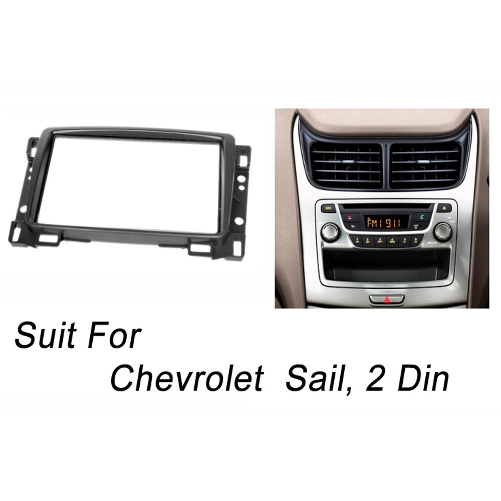 Double Din Fascia For Chevrolet Sail Stereo Panel Radio Dvd Gps