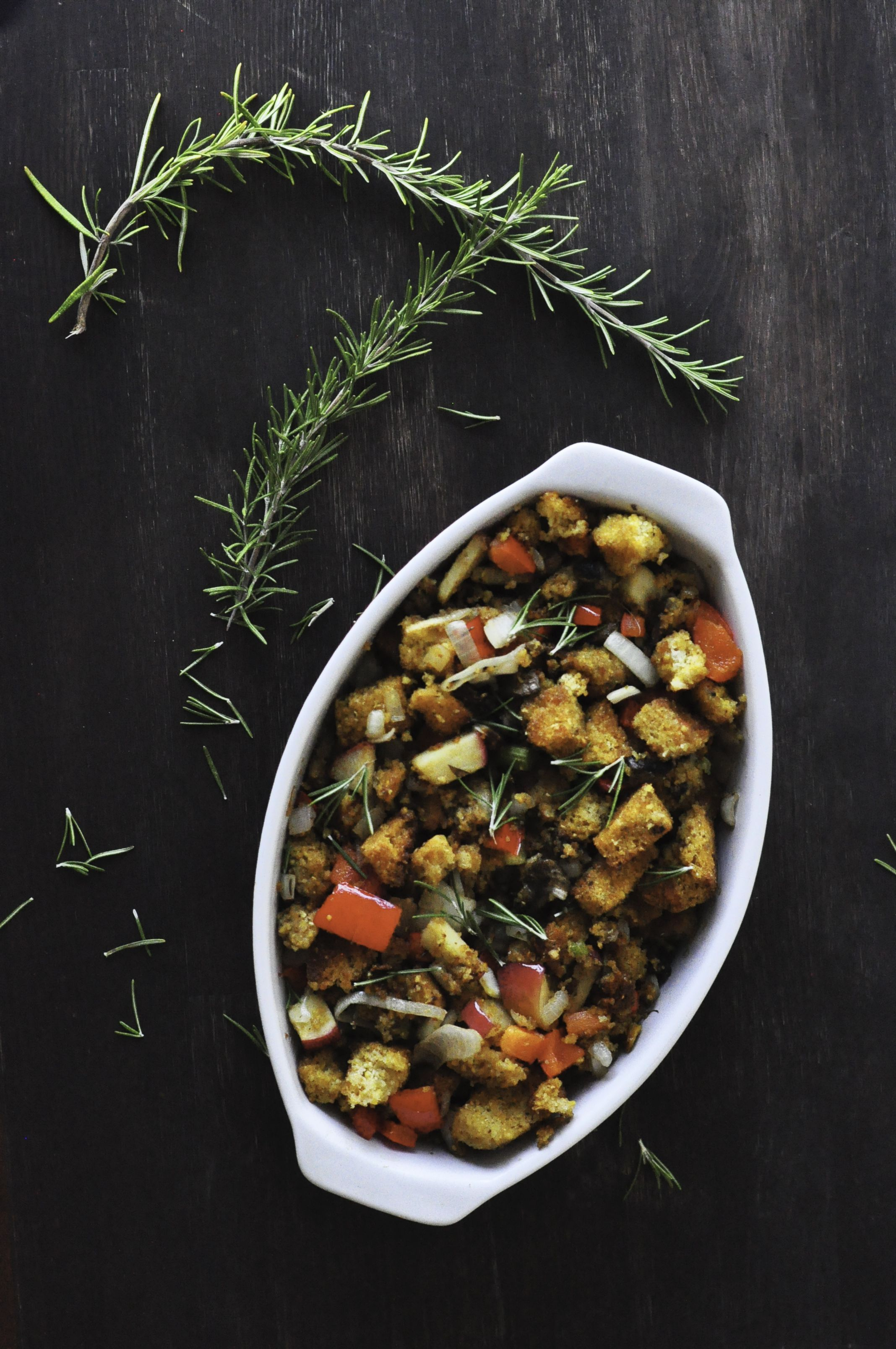 Not Your Gramma S Stuffing Fresh Herb Cornbread Stuffing It S Gluten Free And Vegan Too Vegetarian Dishes Veggie Side Dishes Allergy Free Recipes