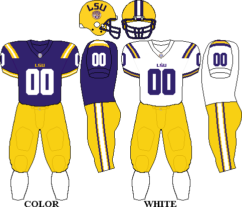 Lsu Football Uniform Home And Away Lsu Tigers Football Lsu Tigers Football Uniforms