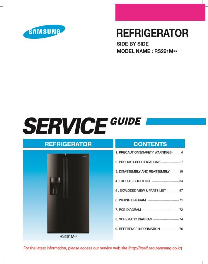 samsung rs261mdrs refrigerator service manual and repair rh pinterest com Samsung RS261MDRS Remove Control Panel Samsung RS261MDRS Ice Maker Problem