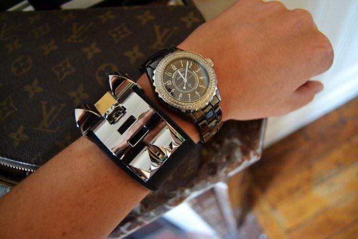 Hermès Collier de Chien and Chanel J12
