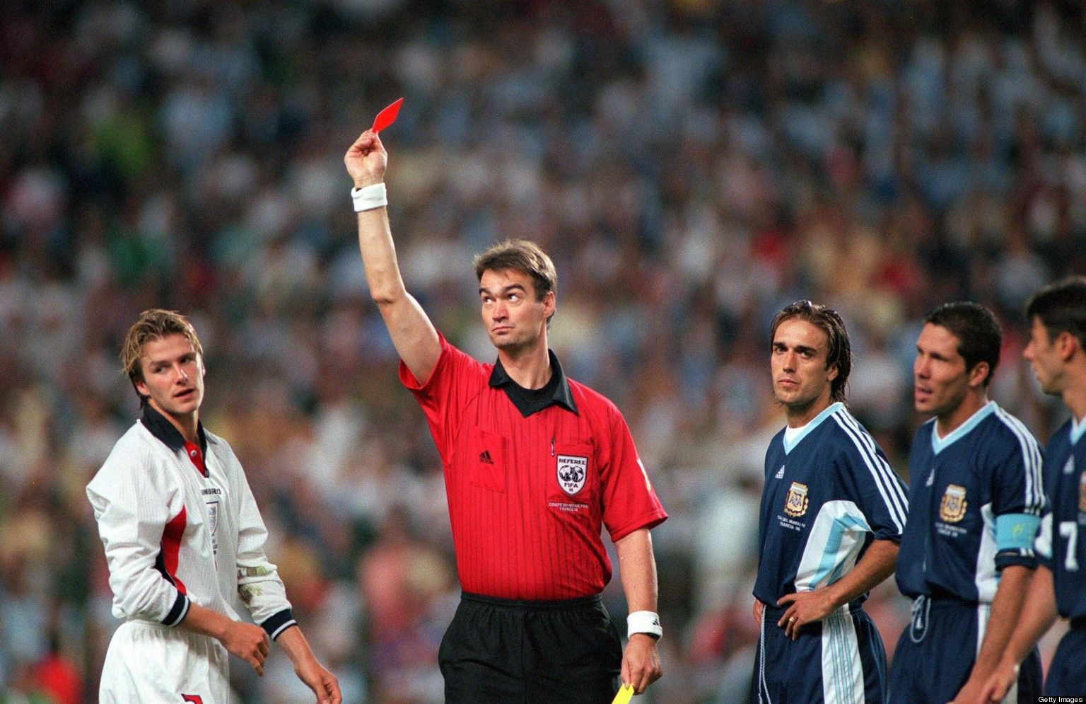 David Beckham's Red Card vs Argentina 1998 David beckham