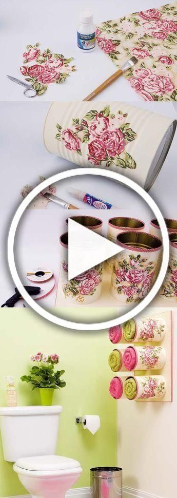Decoupage Tin Cans Are Absolutely Gorgeous | The WHOot                                                                                                ...,#absolutely #decoupage #Gorgeous #whoot