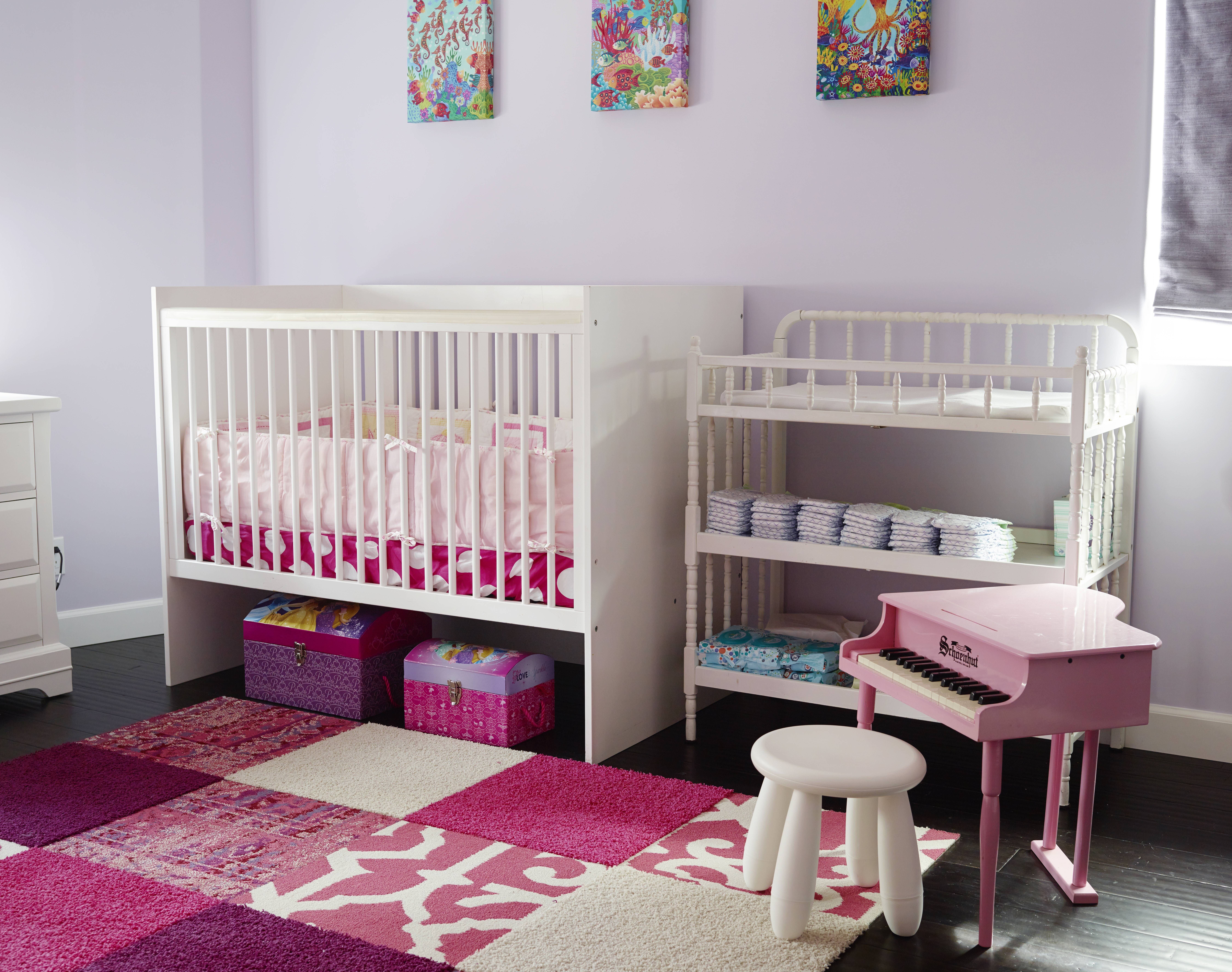 Nursery with FLOR carpet tiles From EcoBungalowLA Robin Wilson