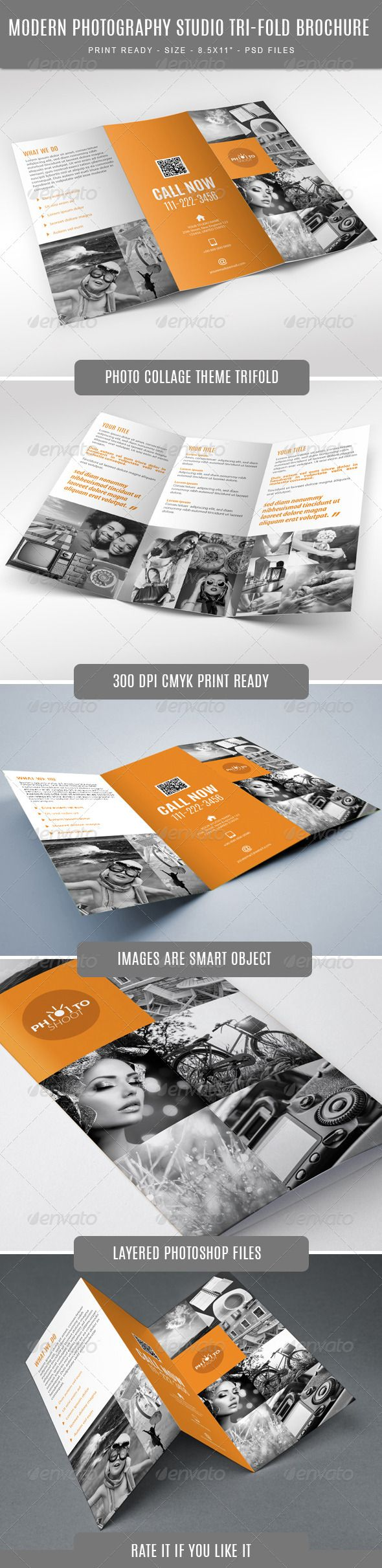 Photography Studio Tri-Fold  —  PSD Template
