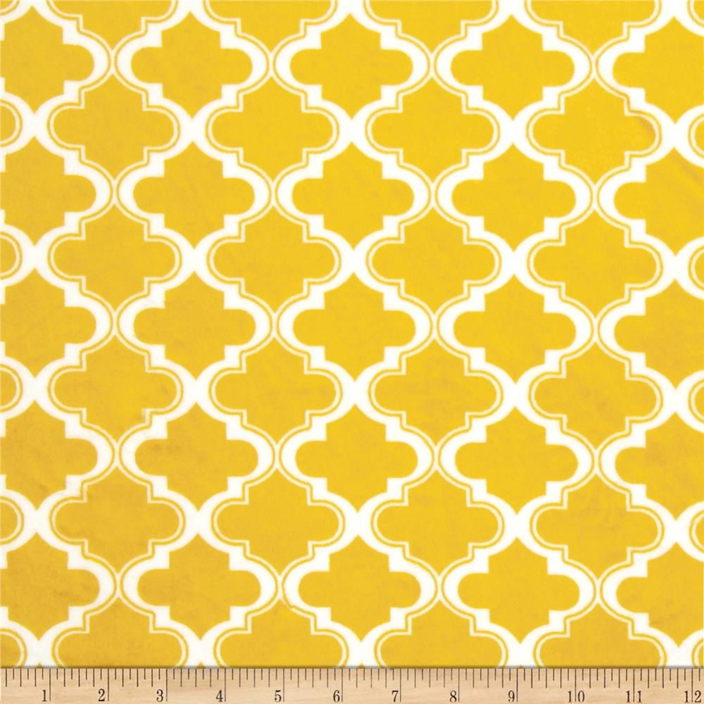 Minky Moroccan Tile Mustard Yellow- minky for the back of my grey ...