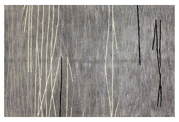 """8'6""""x11'6"""" Lake Rug, Platinum/Ivory on OneKingsLane.com"""