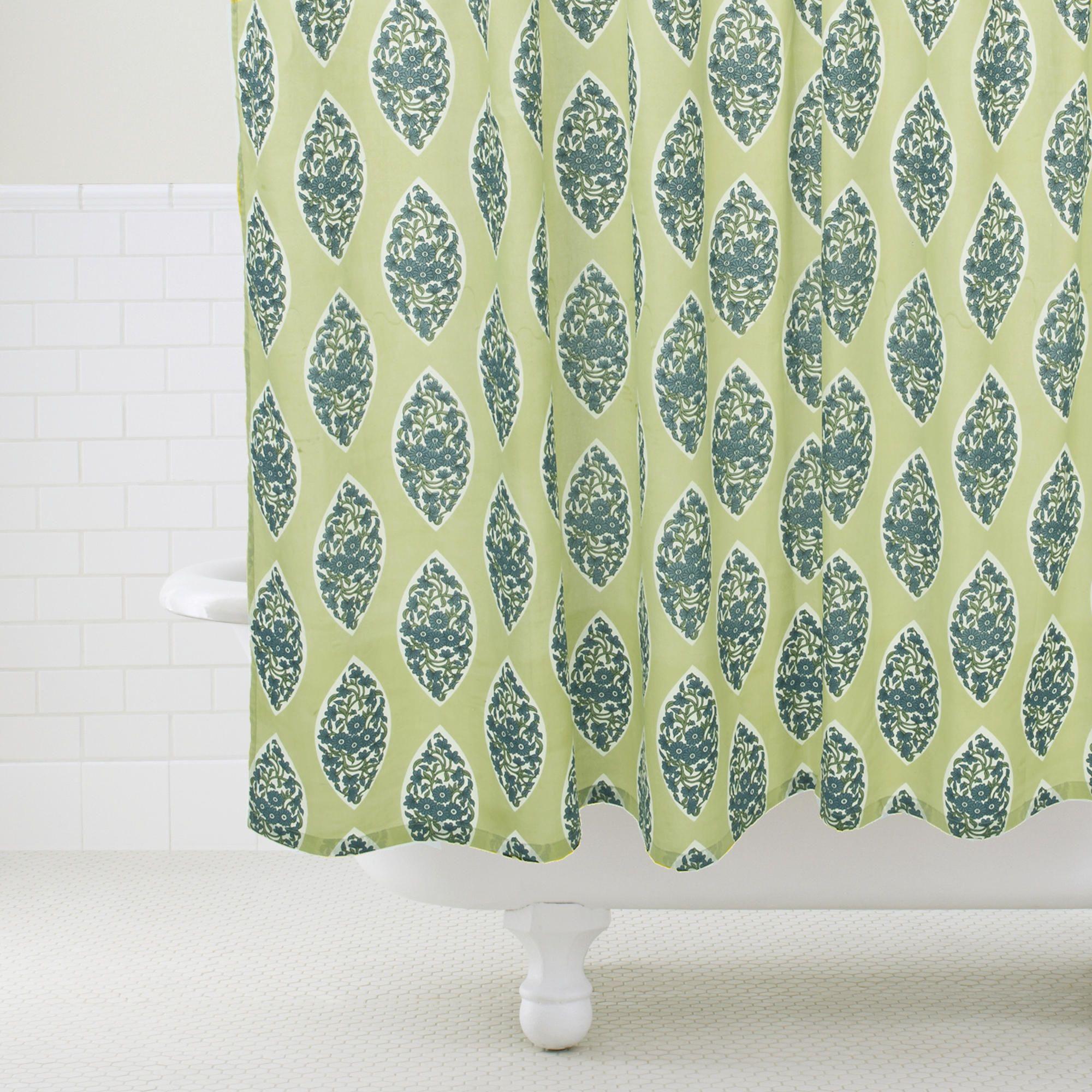 Lime Paisley Bhuti Shower Curtain World Market 29 99 World