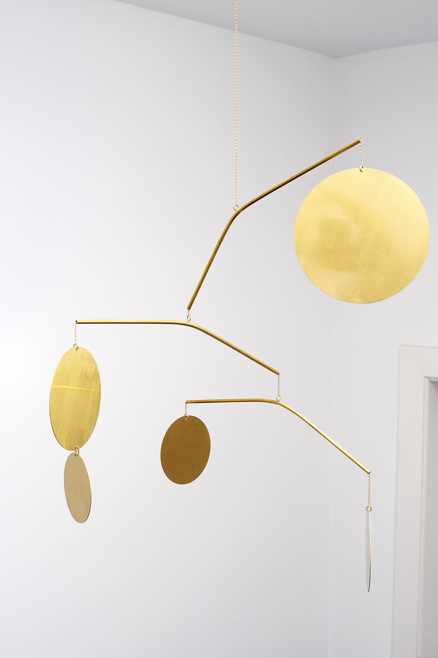 Brass mobile by Corinne van Havre available through LaLouL ...