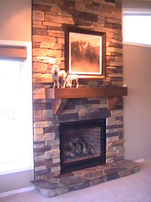 I Want To Do This To An Accent Wall! Stone Fireplace ...