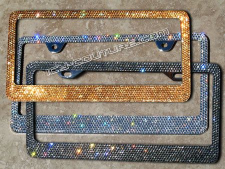 High Quality Swarovski Crystal Bling License Plate By Icycouture 165 00 Bling License Plate Frames License Plate Frames Girly Car Accessories