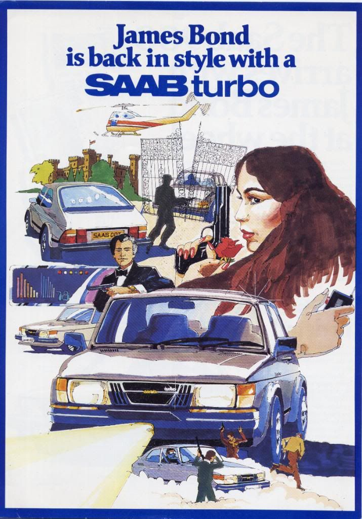 Saab 900 Turbo Poster For Licence Renewed Bond Cars